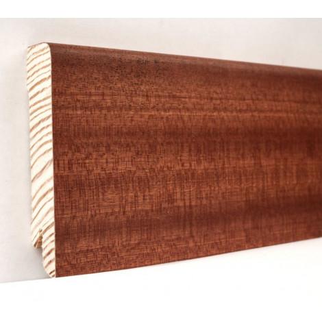 Фото - Плинтус деревянный шпонированный Kluchuk Модерн Сапели 80х18х2400 Коричневый KLM8007