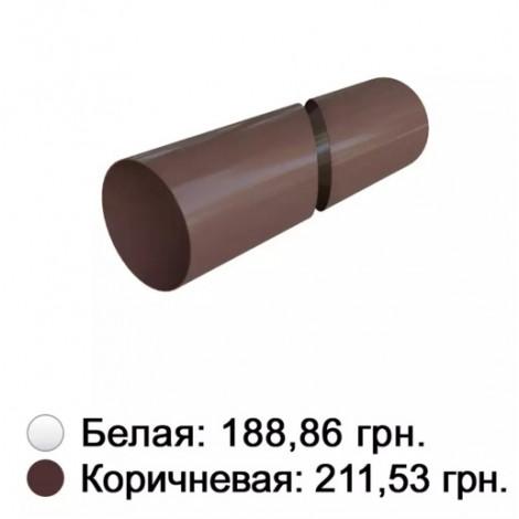 Фото - Труба белая 95 мм Альта-Профиль