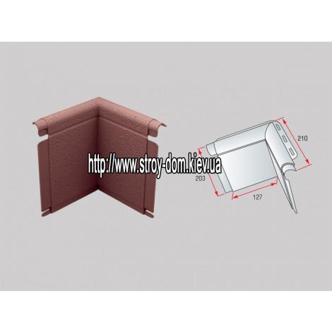 Фото - Угол откоса к фасадным панелям коричневый