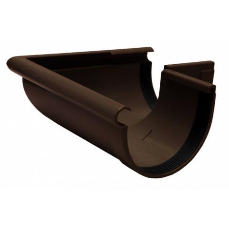 Фото - Кут желоба наружный 90° 130мм RAINWAY коричневый