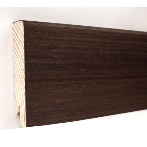 Плинтус деревянный шпонированный Kluchuk Модерн Венге 80х18х2400 Тенмно коричневый KLM8008