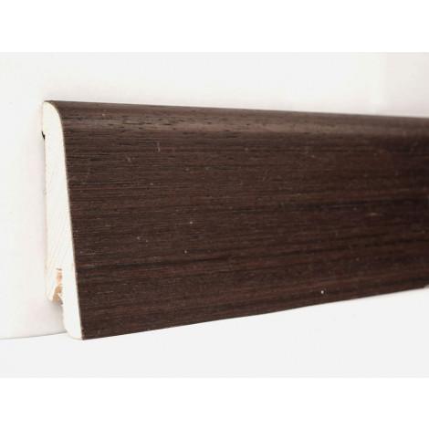 Фото - Плинтус деревянный шпонированный Kluchuk Евро Венге 60х18х2400 Темно коричневый KLE6008