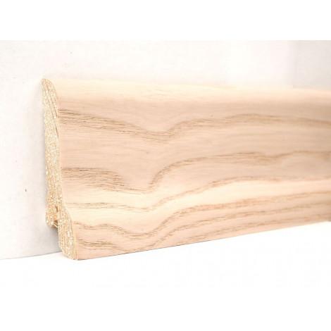 Плинтус деревянный шпонированный Kluchuk Классика Ясень выбеленный 60х21х2400 Бежевый KLK6005