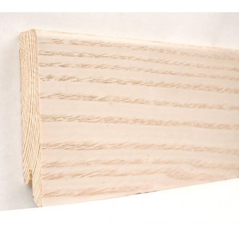 Фото - Плинтус деревянный шпонированный Kluchuk Модерн Ясень выбеленный 80х18х2400 Бежевый KLM8005