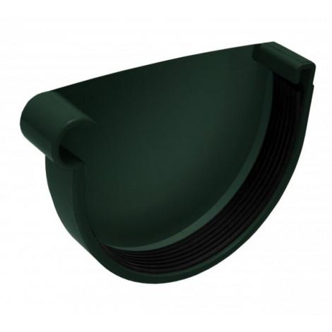 Фото - Заглушка желоба левая 130мм RAINWAY зелёный