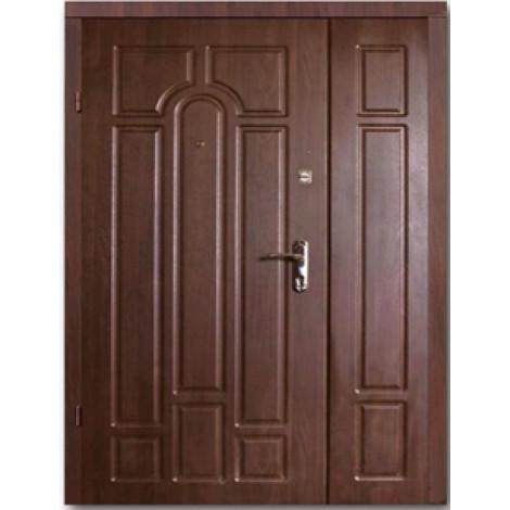 Фото - Входная дверь ФОРТ Премиум Классик Улица орех коньячный