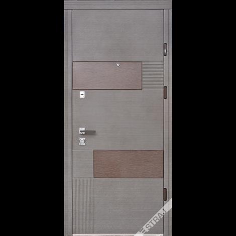 Фото - Входная дверь Страж Вулкан венге серый горизонтальный