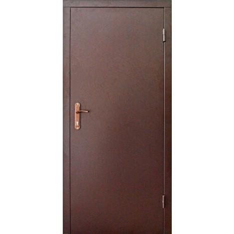 Фото - Входная дверь REDFORT Техническая 2 Листа металла ral 8017