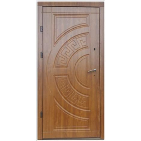 Фото - Входная дверь ФОРТ Премиум Греция Улица дуб золотой