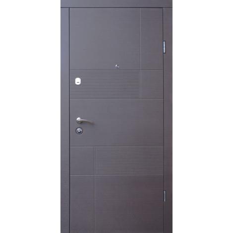 Фото - Входная дверь ФОРТ Стандарт Калифорния венге серый горизонтальный