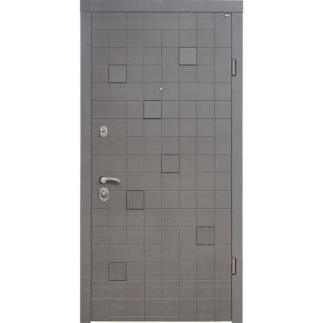 Фото - Входная дверь Стандарт Каскад Plus венге серый горизонт