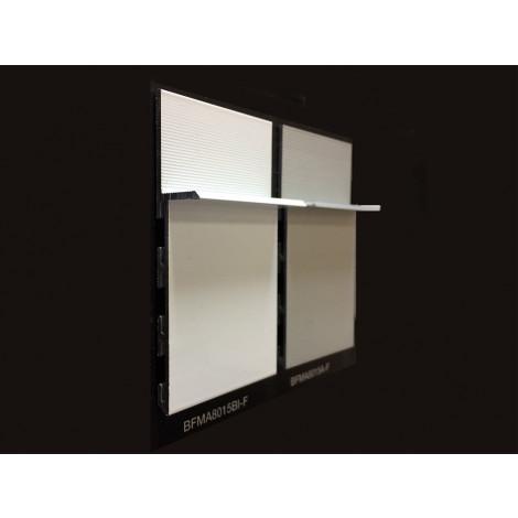 Фото - Алюминиевый плинтус Luciano скрытого монтажа Alluwall белый 2400x80x15 Белый BMFA8015BIF