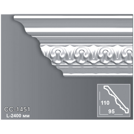 Фото - Карниз потолочный с орнаментом Периметр CC-1451