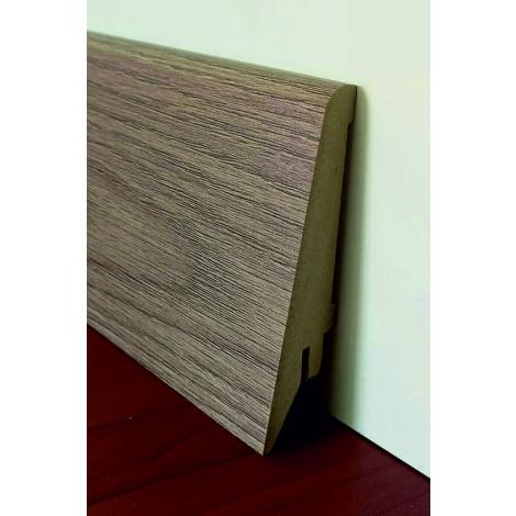 Фото - Плинтус Супер Профиль Дуб Нортленд 2800x80x21 Светло коричневый 1682dn