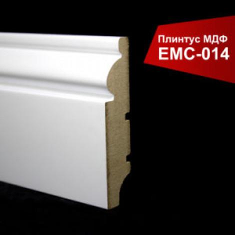 Плинтус крашенный МДФ EMC белый матовый 014