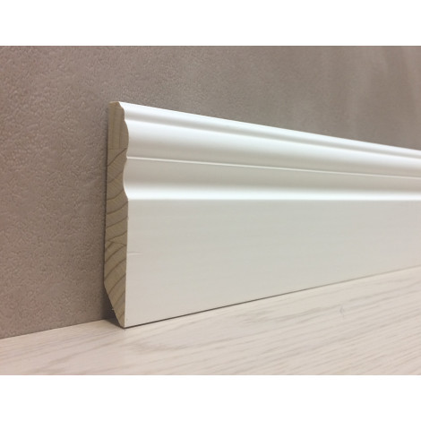 Фото - Плинтус деревянный Виола фигурный 85 мм