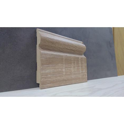 Фото - Плинтус Супер Профиль Дуб Сонома 2800x110x16 Серо коричневый 16110ds