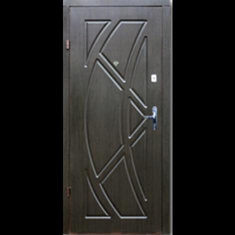 Фото - Входная дверь Форт эконом Викинг венге темный