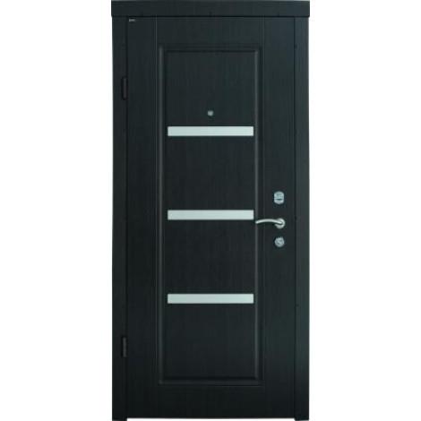 Фото - Входная дверь Берез Стандарт Вена венге темный