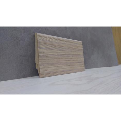 Фото - Плинтус Супер Профиль Зебрано Песочный 2800x80x16 Светло коричневый 1682zp