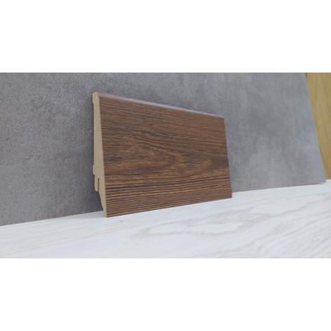 Плинтус Супер Профиль Дуб Родос Тёмный 2800x80x16 коричневый 1682dr