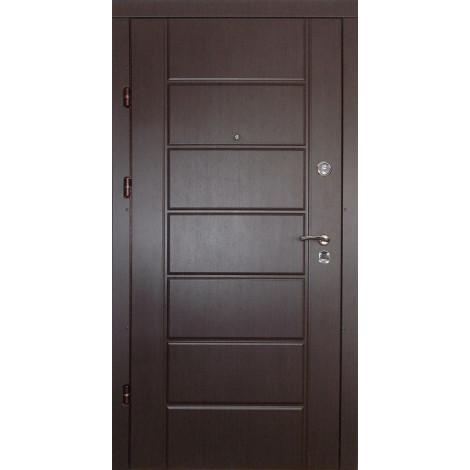 Фото - Входная дверь REDFORT Канзас Венге/Скол дуба белый (Премиум)