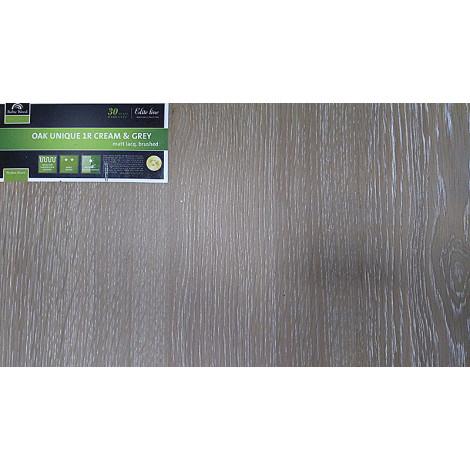 Фото - Паркетная Доска Baltic Wood дуб Unique 1R Cream&Grey Матовый лак браш 5G