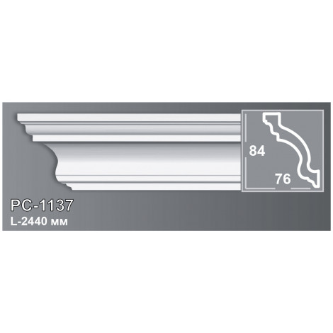 Фото - Карниз потолочный Периметр PC-1137