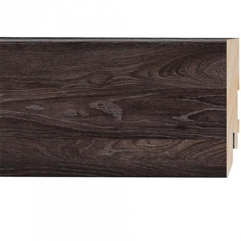 Фото - Плинтус Classen Prestige, Дуб Ванкувер (2400x80x16) Темно-коричневый 223484