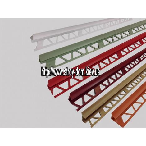 Фото - Профиль для кафельной плитки, красно коричневый, внутр.9-10мм
