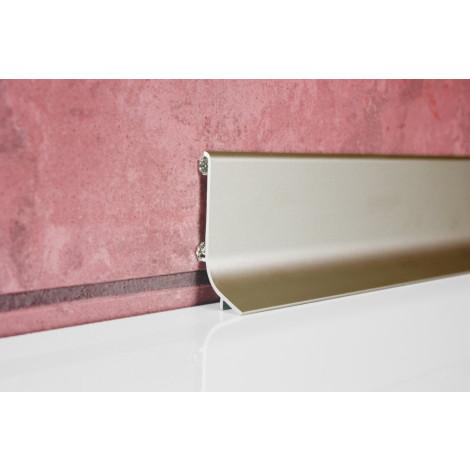 Фото - Плинтус алюминиевый Multi Effect Q63 серебро клей (SREBRO) размер 16.8*40*2700