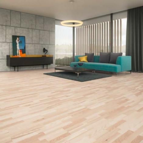 Фото - Паркетная доска Baltic wood яснеь Elegance 3R полуматовіый лак 2G