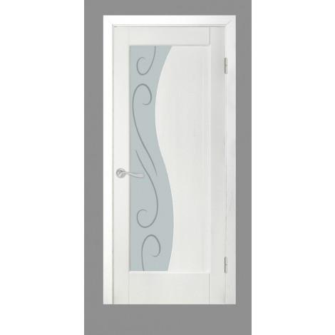 Фото - Дверь межкомнатная модель 16 (глухая/остекленная) ясень белый эмаль Terminus