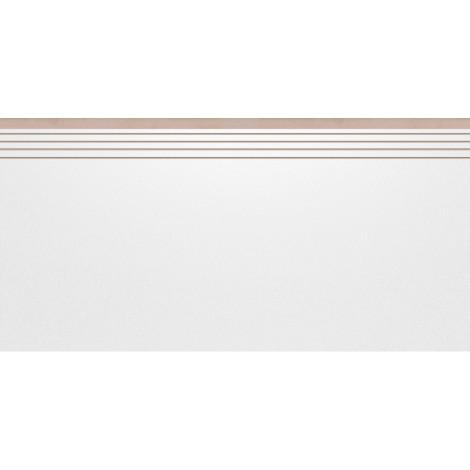 Плитка Cerrad Cambia 29,7x59,7 white Ступень Полуполированная