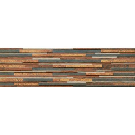 Фото - Плитка Cerrad Zebrina Rust 17,5x60x9 (Фасадный камень)