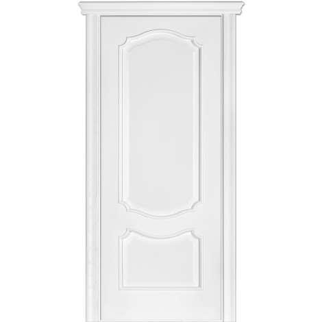 Фото - Дверь межкомнатная модель 41 (глухая/остекленная) ясень белый эмаль Terminus