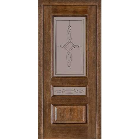 Фото - Дверь межкомнатная модель 53 (глухая/остекленная) дуб браун Terminus
