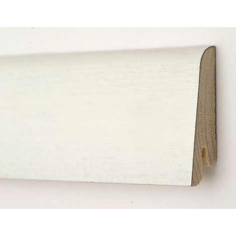 Фото - Плинтус деревянный шпонированный Kluchuk Евро Белый 60х18х2400 Белый KLE6012