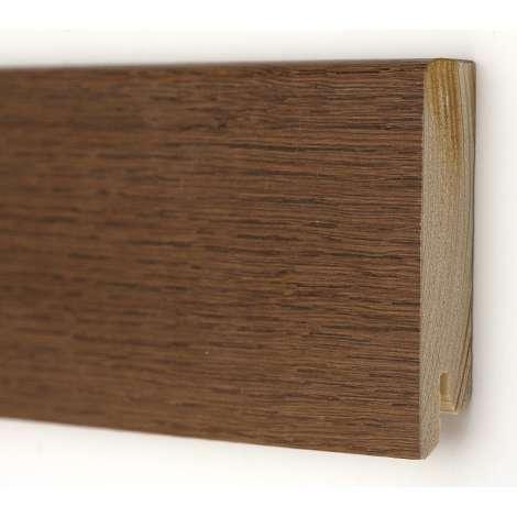 Фото - Плинтус деревянный шпонированный Kluchuk Модерн Дуб браун 80х18х2400 Коричневый KLM8013