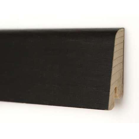 Фото - Плинтус деревянный шпонированный Kluchuk Евро Дуб черный 60х18х2400 Черный KLE6016