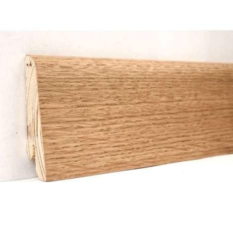 Фото - Плинтус деревянный шпонированный Kluchuk Евро Дуб натуральный 60х18х2400 Коричневый KLE6001