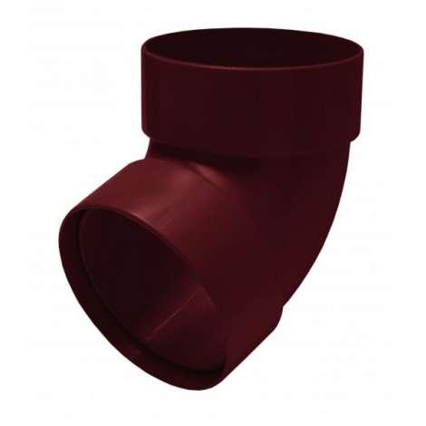 Фото - Отвод трубы двомуфтный 67° 75мм RAINWAY красный