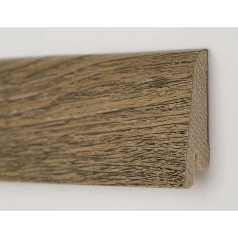 Фото - Плинтус деревянный шпонированный Kluchuk Рустик Дуб античный 80х19х2200 Серо коричневый KLR8009