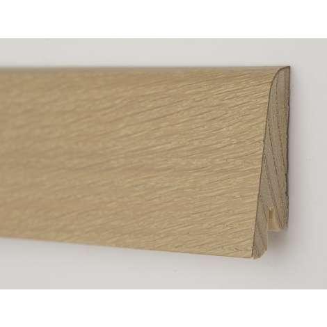 Фото - Плинтус деревянный шпонированный Kluchuk Рустик Дуб бейлиз 80х19х2200 Светло коричневый KLR8007