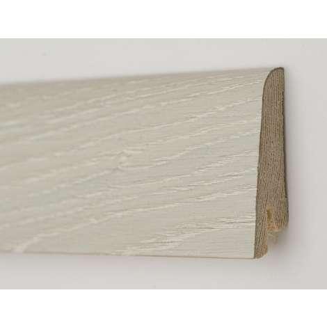 Фото - Плинтус деревянный шпонированный Kluchuk Рустик Дуб ледяной 60х19х2200 Белый KLR6004