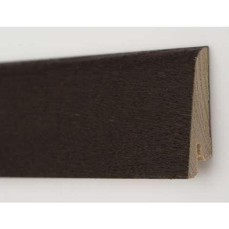 Фото - Плинтус деревянный шпонированный Kluchuk Рустик Дуб термо 60х19х2200 Темно коричневый KLR6010