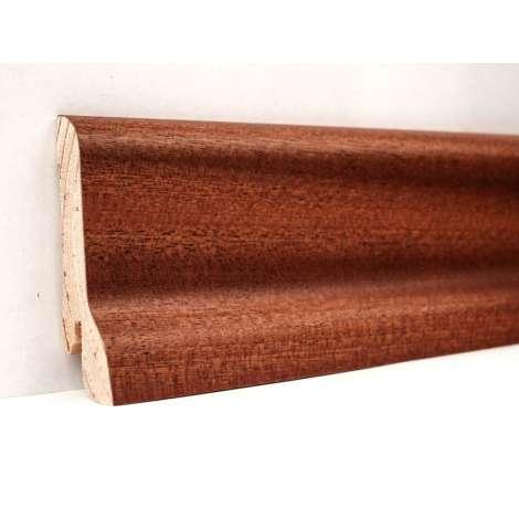 Фото - Плинтус деревянный шпонированный Kluchuk Классика Сапели 60х21х2400 Коричневый KLK6007