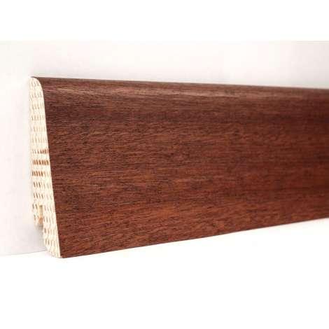 Фото - Плинтус деревянный шпонированный Kluchuk Евро Сапели 60х18х2400 Коричневый KLE6007