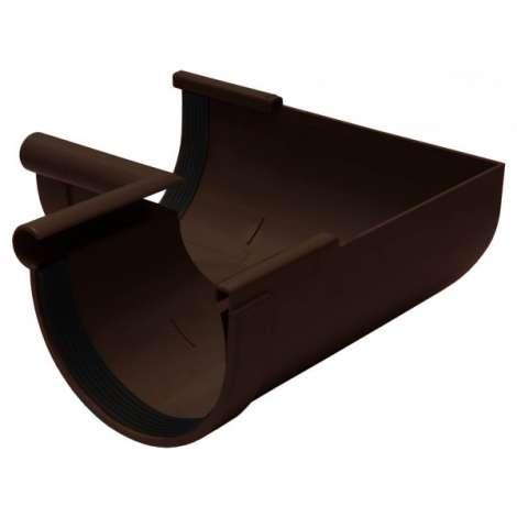 Фото - Кут желоба внутренний 90° 130мм RAINWAY коричневый
