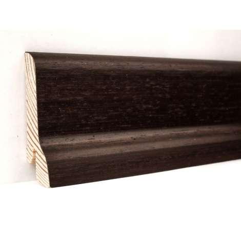 Фото - Плинтус деревянный шпонированный Kluchuk Классика Венге 60х21х2400 Темно коричневый KLK6008